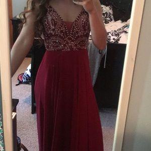 Red Sherri Hill Prom Dress!